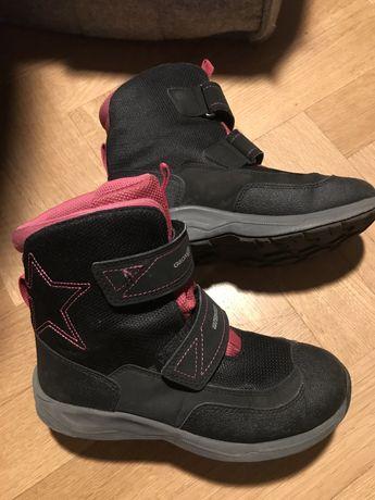 Buty Geox 34, 21cm czarno/różowe