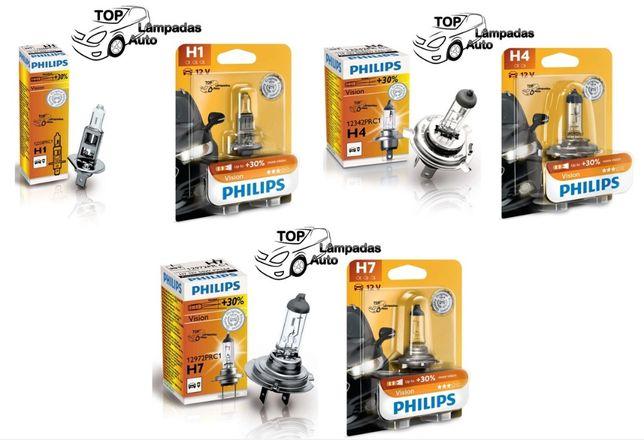 Philips Vision +30% H1 / H4 / H7 / H6W - Portes Grátis