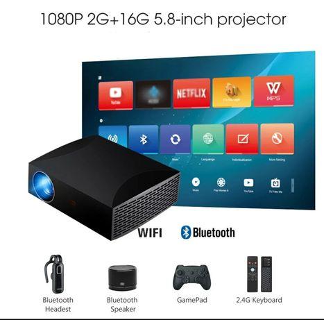 Projetor led Android+2 GB RAM+Nativa 1080P REAL
