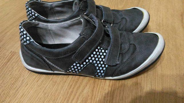 Półbuty buty Kornecki r.36 dziewczynka szare zapinane na rzepy