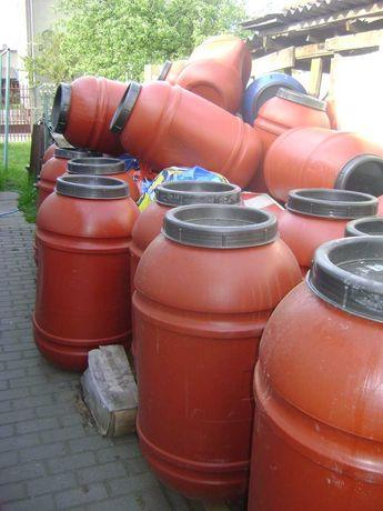 Sprzedaz beczek plastikowych po spozywce-220l-kupuj powyzej 5szt-90zl