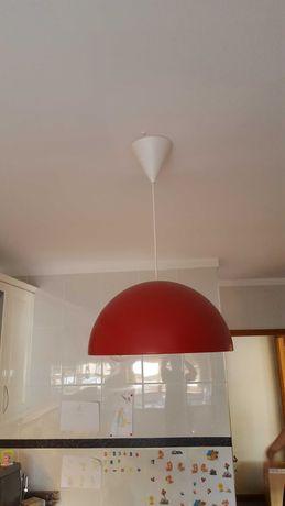 Candeeiro para  cozinha cor  Vermelha