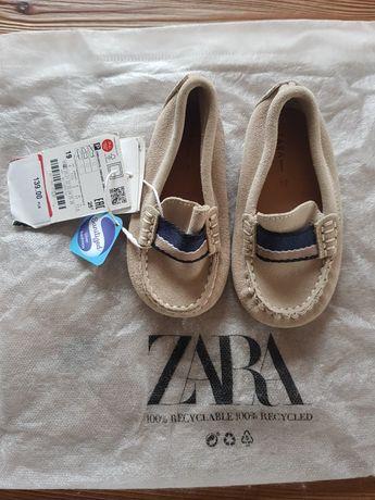 Skórzane mokasynki Zara baby 19, 13 cm
