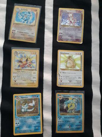 Lote de 6 cartas pokemon holográficas PT