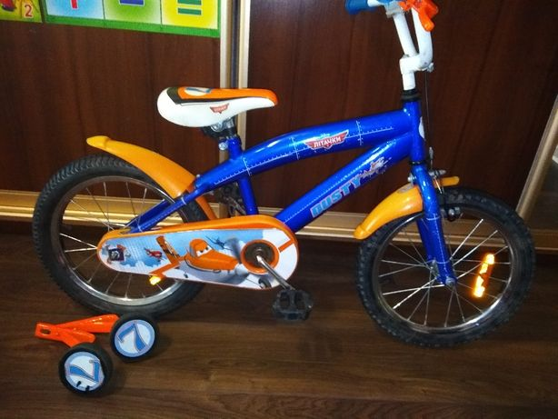 """Велосипед """"Самолеты"""" на 3-6 лет, диаметр 16"""