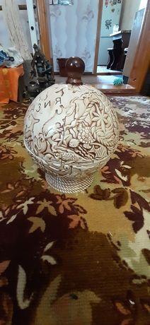 Коньячный набор Глобус+ штоф и 6 рюмок