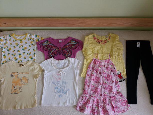 Zestaw letni dla dziewczynki 110/116/nowa sukienka