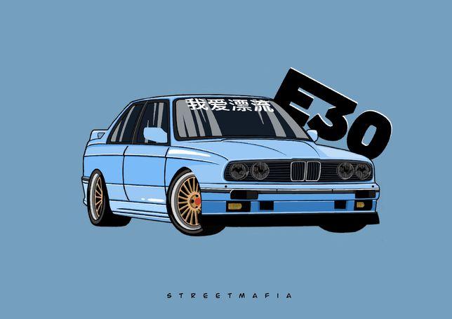 Rysunek graficzny twojego samochodu! Prezent dla chłopaka, taty.