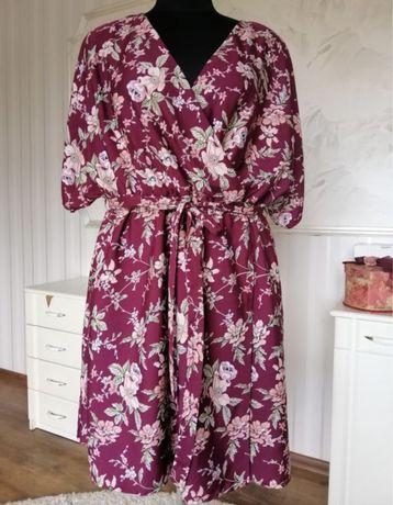 Красочное платье большого размера 56-58