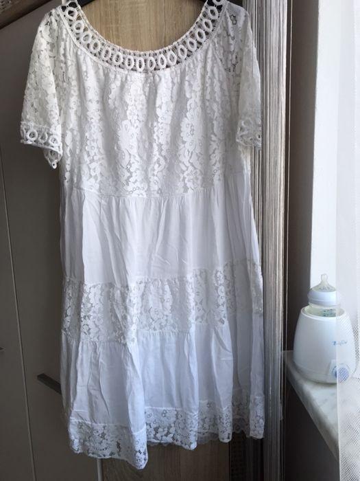 Sukienka biala ciazowa Lgota - image 1