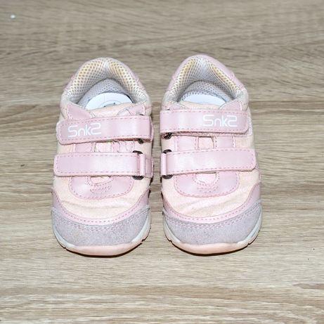 Кроссовки для девочки розовые на липучках chicco, кеды, блестки