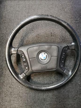 Kierownica skórzana multifunkcyjna BMW E39
