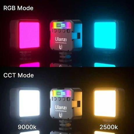 Накамерный свет, световой куб, cветильник Ulanzi VL49 LED RGB