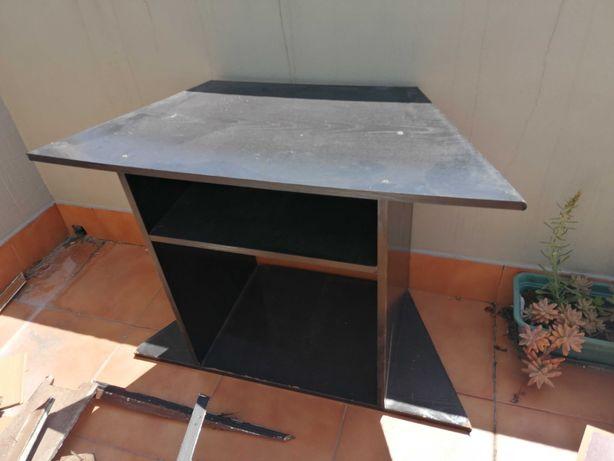 Mesa de televisão / mesa de apoio / estante para livros preta