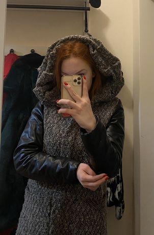 Kurtka-płaszcz damski.Rozmiar M Duży piękny Kaptur