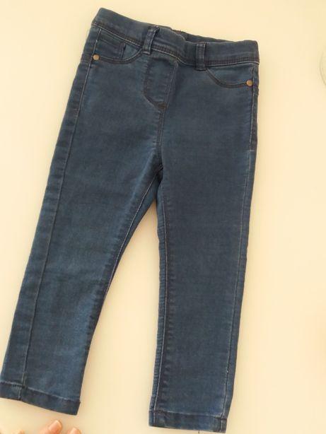 Spodnie jeansy angielskie Pepco roz 92