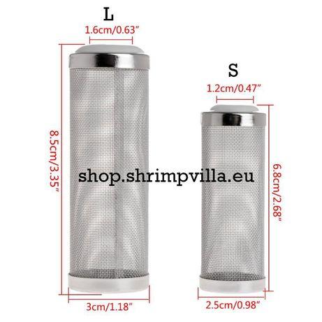 Pré-Fitro Rede Inox para filtro de aquário ( S / L)
