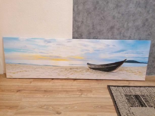 Obraz z łódka plaża