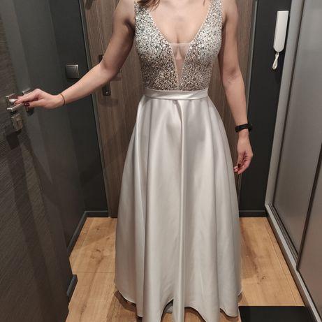 Suknia ślubna gładki dół