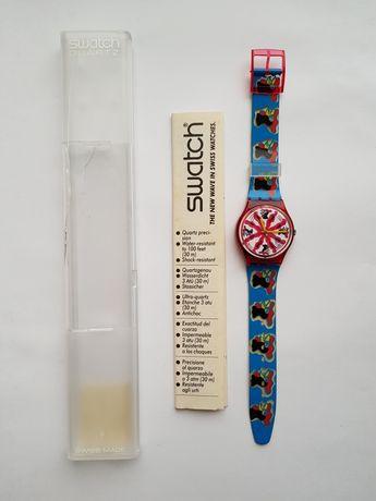 Швейцарские винтажные часы Swatch Quartz Gr112 1992