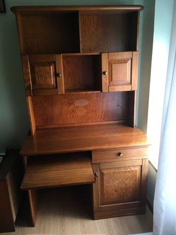 Escrivaninha / Estante em madeira de Pinho