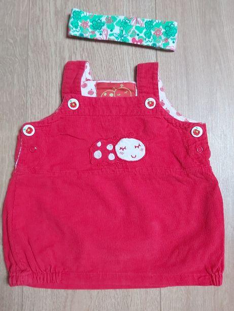 Sukienka niemowlęca 5-10-15 rozm. 62 + opaska