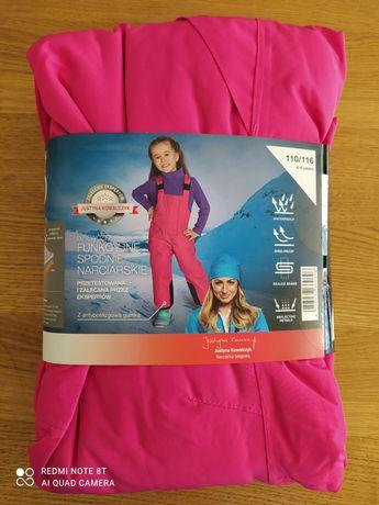 Lidl spodnie narciarskie zimowe dziewczęce 110 116 na 4-6 lat
