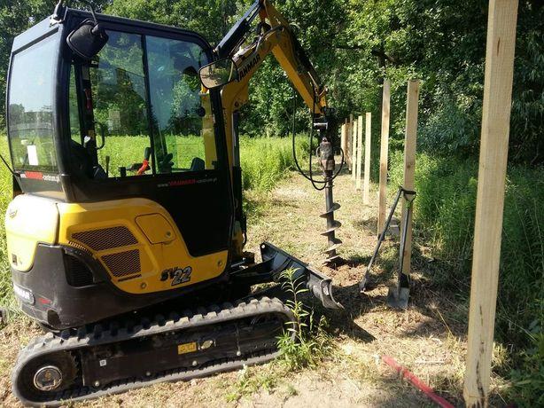 usługi minikoparką fundamenty ogrodzenia wiertnica podjazdy drenaż