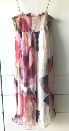 Vestido Zara Basic floral Midi