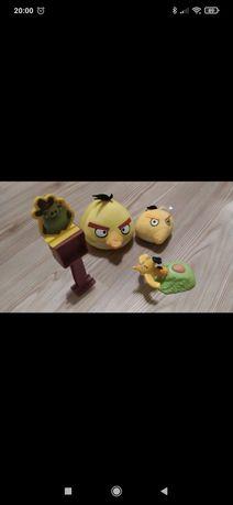 Pluszaki i wyrzutnia Chuck z bajki Angry Birds