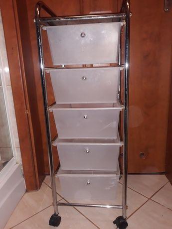 Wozek kosmetyczny na kółkach 5 szuflad