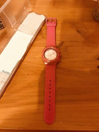 Relogio swatch rosa