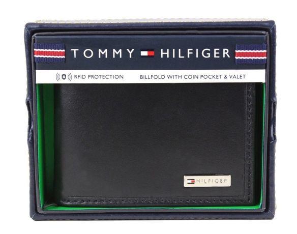 Кошелек TOMMY HILFIGER с отделением для мелочи. с RFID-защитой. Оригин