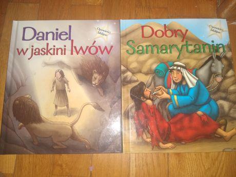 Opowieść biblijne Daniel w jaskini lwów Dobry samarytanin