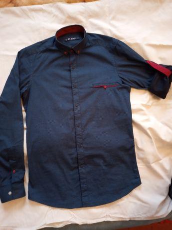 Рубашка джинсовая на мальчика 12-13 лет