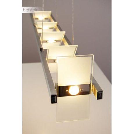 Nowoczesna lampa wisząca PUKKA LED Paul Neuhaus 8005-95 alu szkło
