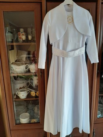 Sukienka komunijna alba, komplet