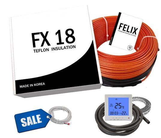 Комплект! 15м2 Нагревательный кабель Электрический теплый пол из Кореи