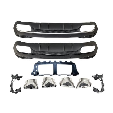 Диффузор и насадки GLS63 GLE63 AMG для Mercedes GLE W167 GLS X167