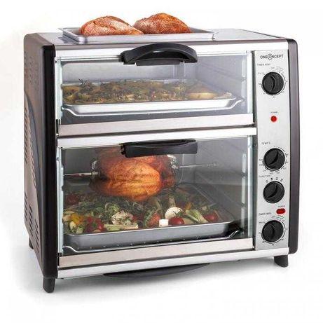 Podwójny piekarnik z płytą grillową 2400W 42L All-You-Can-Eat Nowy