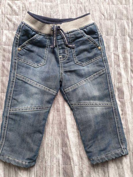 Spodnie jeansowe ocieplane rozmiar 80