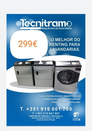 Máquina de lavar roupa e secar industrial Self-service