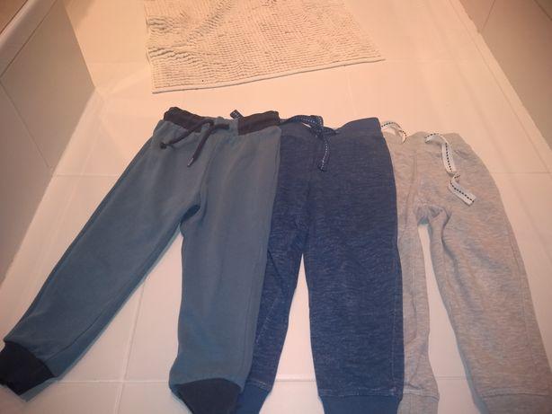 3 pary spodni dresowych 86/92