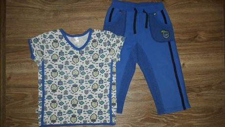Летний комплект Smil: футболка, бриджи (шорты) (р.116-122, 6-7 лет)
