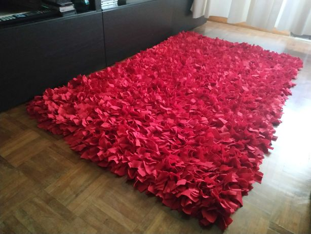 Tapete artesanal vermelho