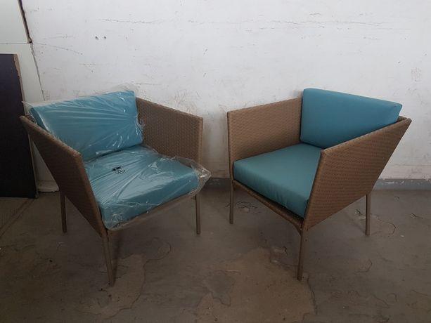 Fotele ogrodowe .Polyrattan.Nowe.