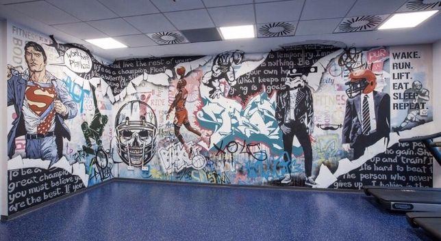 Роспись стен / Граффити оформление / Рисунок на стене