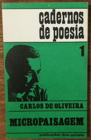 micropaisagem, carlos de oliveira, cadernos de poesia 1