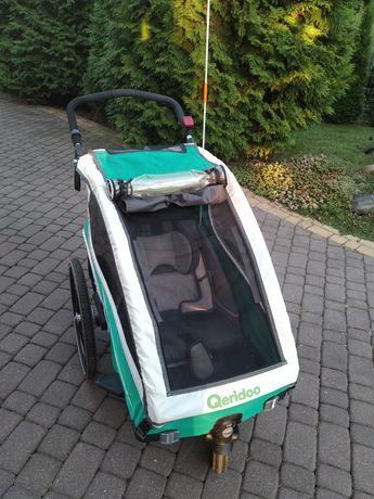 Przyczepka rowerowa Qeridoo kidgoo1 amortyzacja