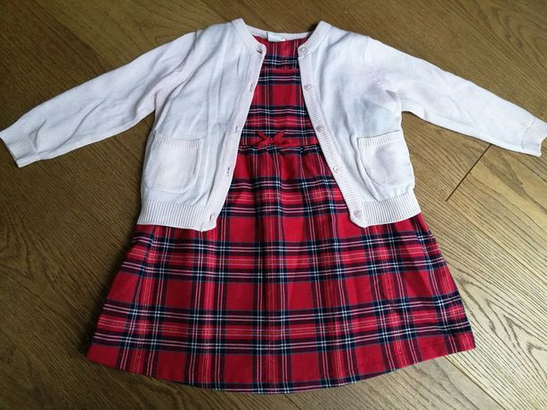 Sukienka H&M r.92 plus sweterek